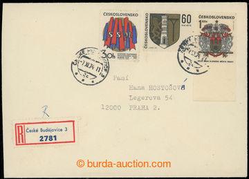 219509 - 1968 R-dopis zaslaný do Prahy, vyfr. mj. nezoubkovanou zná