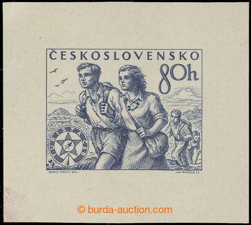 219557 - 1954 ZT  Pof.789, Tělovýchova a sport 80h, zkusmý tisk -