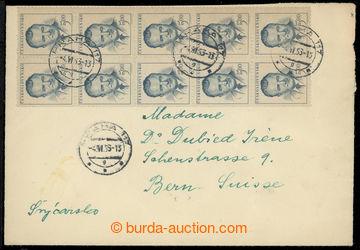 219568 - 1953 DOPIS DO CIZINY / adresovaný do Švýcarska, poštovn�