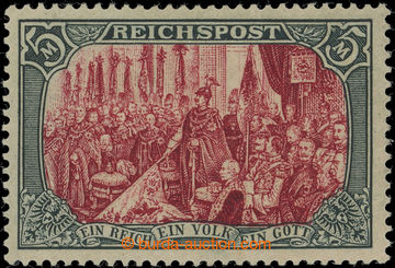 219621 - 1900 Mi.66I, REICHSPOST 5RM, very rare type I without retouc