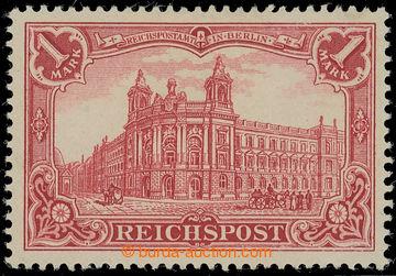 219624 - 1900 Mi.63a, REICHSPOST 1RM červená; bezvadný kus, zk. G.