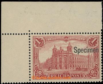 219648 - 1900 Mi.63bSP, REICHSPOST 1RM tmavě karmínová; luxusní r