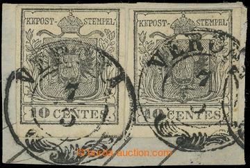219683 - 1850 Ferch.2H I, 2x Znak 10Cts šedá, Erstdruck na výstři