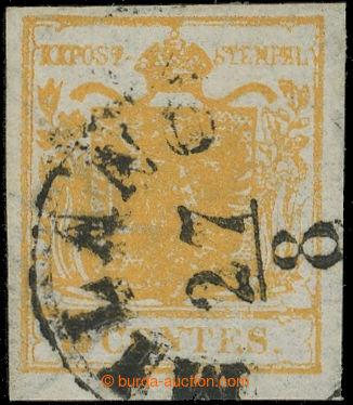 219687 - 1850 Ferch.1HI, Znak 5Cts oranžová, bezvadný kus s mimoř