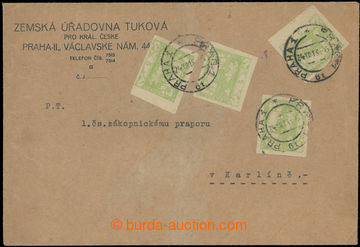219709 - 1918 RANÉ POUŽITÍ / firemní dopis zaslaný v místě, vy