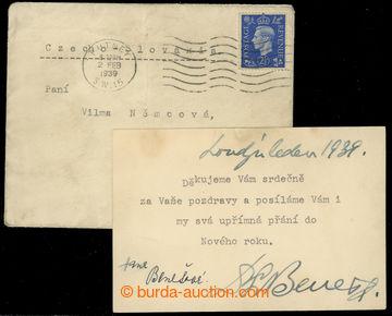 219718 - 1939 BENEŠ Edvard (1884–1948), 2. československý prezid