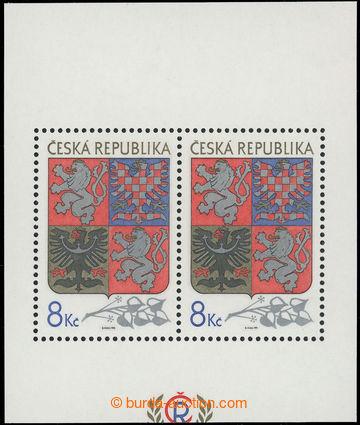 219836 - 1993 Pof.A10 VV, aršík Velký státní znak 8Kč, odlišn�