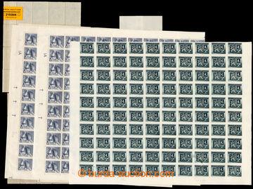 219844 - 1945 ARCHOVINA/ BLOKY  sestava 2ks kompletních 200ks archů