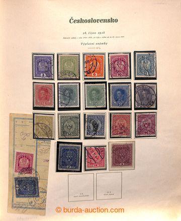219918 - 1918-1939 [SBÍRKY]  GENERÁLNÍ / raz. sbírka na listech v