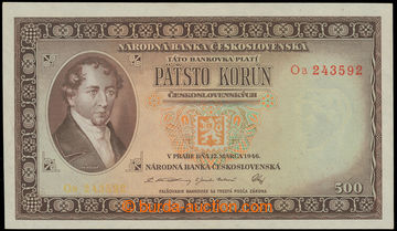 219958 - 1946 Ba.80b, 500Kčs, issue 1946, set Oa