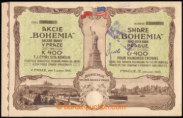 219963 - 1919 Czechoslovakia / share bank BOHEMIE in Prague on/for 40