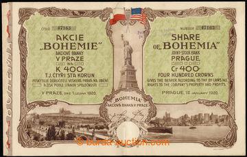 219964 - 1920 Czechoslovakia / share bank BOHEMIE in Prague on/for 40