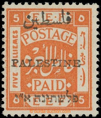 219972 - 1920 SG.46, EEF 5mill oranžová, s 3-jazyčným přetiskem