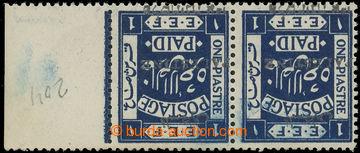 219973 - 1920 SG.21w, krajová 2-páska 1Pia indigo, stříbrný pře