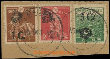 220042 - 1942 JAPONSKÁ OKUPACE / SG.J58-J60, přetisky 1C-3C na japo
