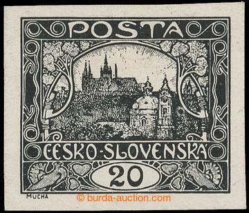 220086 -  ZT  hodnoty 20h v černé barvě na křídovém papíru, I.