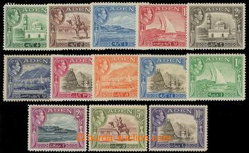 220117 - 1939-1948 SG.16-27, Jiří VI. ½A - 10R; kompletní série,