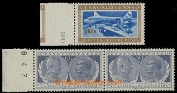 220171 - 1953 Pof.767 DO, Doprava 1Kčs, krajový kus s datem tisku +