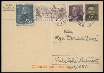 220183 - 1953 NEDĚLE / PC CDV99B, right uprated. stamp. Pof.502, 643