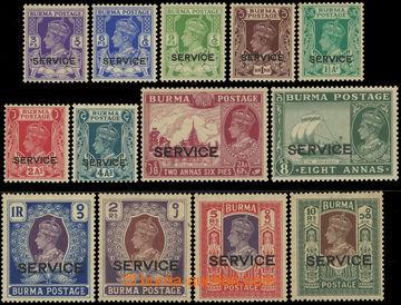 220194 - 1939 SG.O15-27 Jiří VI. 3P-10Rs SERVICE; kompletní série