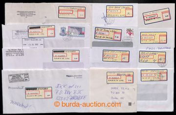 220309 - 1997-2010 selection of 20 pcs of Reg letters with labels APO