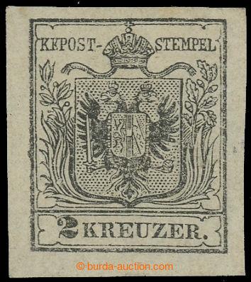 220310 - 1850 Ferch.2HI, Znak 2Kr I. typ, ruční papír, světlý od