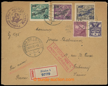 220405 - 1926 PRAHA - FRIBOURG  R+Let-dopis do Švýcarska, vyfr. cel