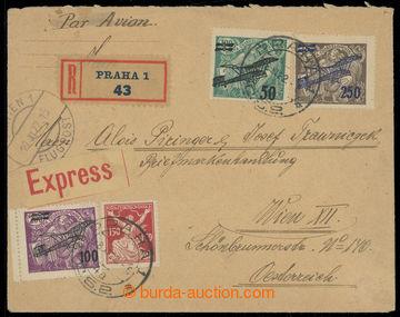 220408 - 1922 PRAHA - VÍDEŇ  R+Ex+Let-dopis zaslaný do Rakouska, v