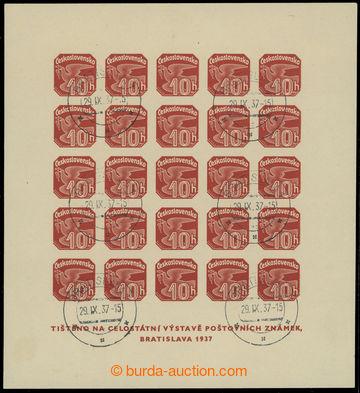 220444 - 1937 Pof.ANV18, aršík Výstava Bratislava 1937, vzácný t