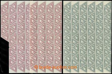 220510 - 1916 SPĚŠNÉ / TROJÚHELNÍK  Mi.217-218, hodnota 2h červ