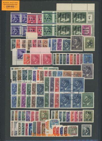 220532 - 1945 sestava známek s revolučními přetisky, část ve 4-