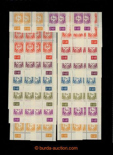220543 - 1941 Pof.SL5, SL7-SL12, Služební I., sestava rohových 4-b