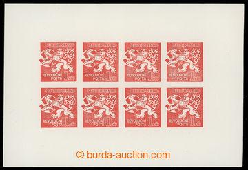 220569 - 1945 PRAHA / Lev trhající okovy, návrh V. Preissiga na re
