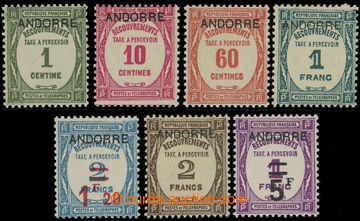 220572 - 1931-1932 DOPLATNÍ / Mi.9-13, 14-15, Číslice s přetiskem