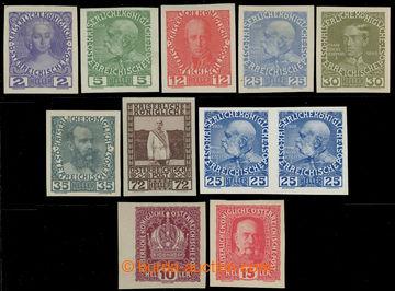 220646 - 1908-1916 Mi.140, 142, 144, 147-149, 152, 188, 190, sestava