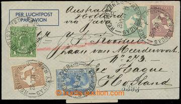 220719 - 1931 R+Let-dopis do Skotska, vyfr. 5 zn. Klokan a Jiří V.,