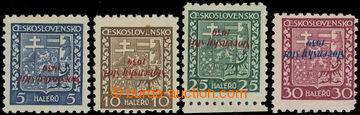 220870 - 1939 Sy.2, 3, 5, 6 PP, Znak 5h, 10h, 25h a 30h, vše převr�