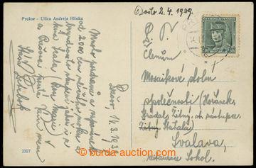 220898 - 1939 1. den Slovenského štátu / fotopohlednice zaslaná z