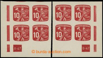 220981 - 1945 Pof.NV24 DČ, Novinové 10h, pravý a levý dolní roho