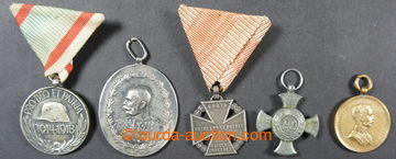 221041 - 1910-1916 comp. 5 pcs of medals and medilónů, contains i.a