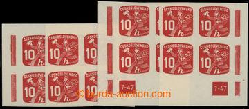 221078 - 1945 Pof.NV24 DČ, Novinové 10h, kompletní miniatura rohov
