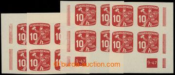 221080 - 1945 Pof.NV24 DČ, Novinové 10h, kompletní miniatura rohov