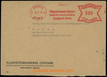 221131 - 1943 firemní dopis v místě vyfr. protektorátním OVS, FL