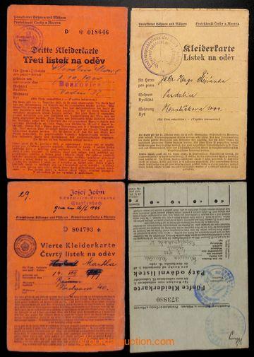 221149 - 1940-1944 BOHEMIA-MORAVIA / Lístky on/for oděv - comp. 4 p