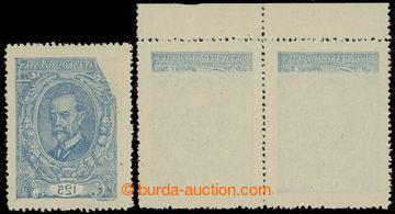 221203 -  Pof.140 VV, 125h modrá, II. typ, s téměř úplným obtis