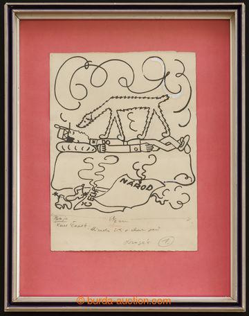 221204 - 1930 ČAPEK Josef (1887–1945), kresba tuší na papíru 22