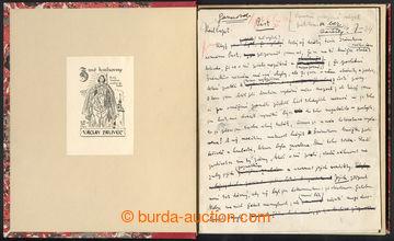 221206 - 1933 ČAPEK Karel (1890-1938), český spisovatel, intelektu