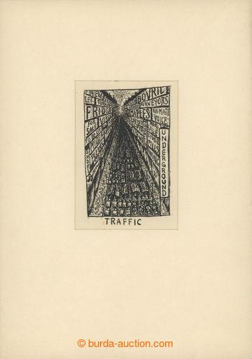 221214 - 1924 ČAPEK Karel (1890-1938), kresba tuší na papíru 13x9