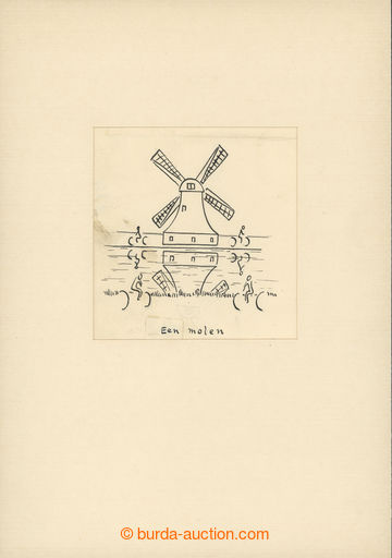 221216 - 1932 ČAPEK Karel (1890-1938), kresba tuší (2x) nebo tužk