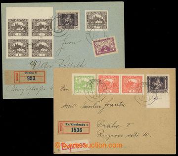 221221 - 1919 2 dopisy se smíšenou frankaturou Hradčanské a Legio